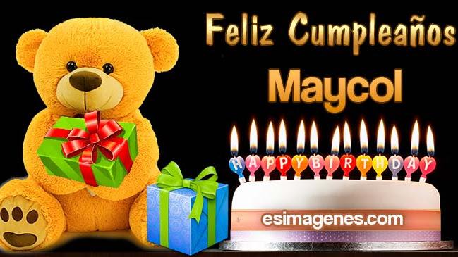 Feliz cumpleaños Maycol