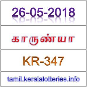 காருண்யா லாட்டரி ரிசல்ட் (KR-347)