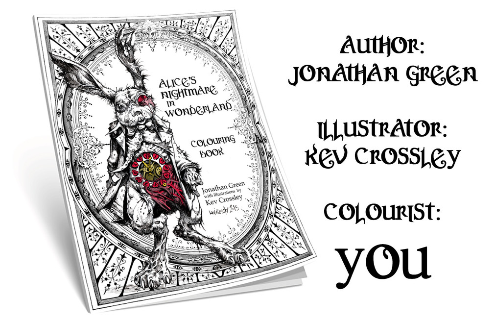 Jonathan Green Author Alices Nightmare In Wonderland Colouring