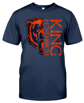 King In The North Chicago Bear T Shirts Hoodie Sweatshirt Sweater Tank Tops