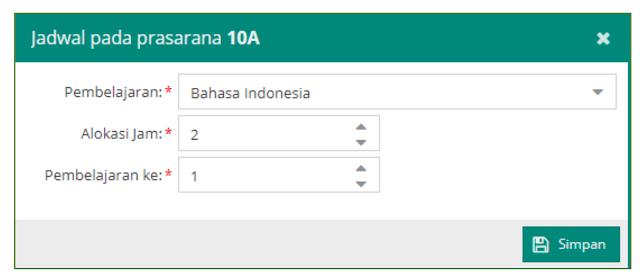 alokasi jam pelajaran bahasa indonesia dapodikdasmen