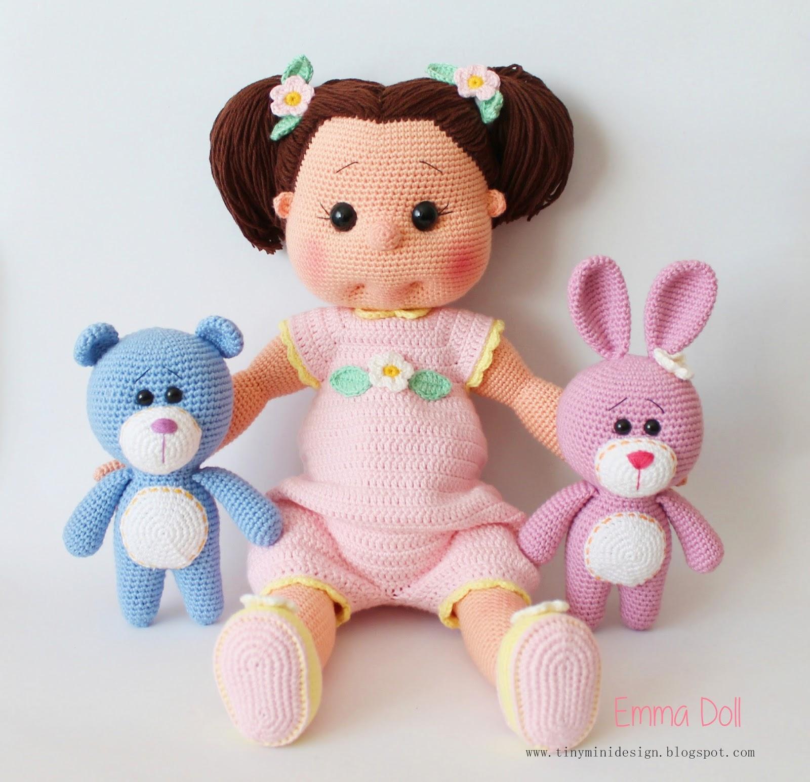 Amigurumi Bebek Tarifi : Amigurumi emma doll tiny mini design