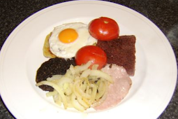 Easy to make a complete scottish breakfast