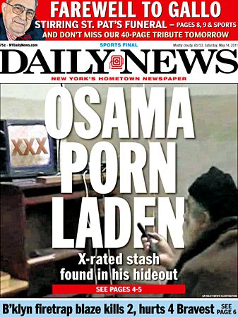 Image result for osama bin laden porn headline daily news