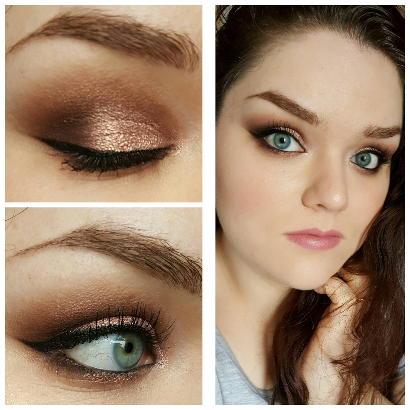 Warm Rose Gold Eyes Ft Zoeva Rose Gold Palette The Decadence Diaries