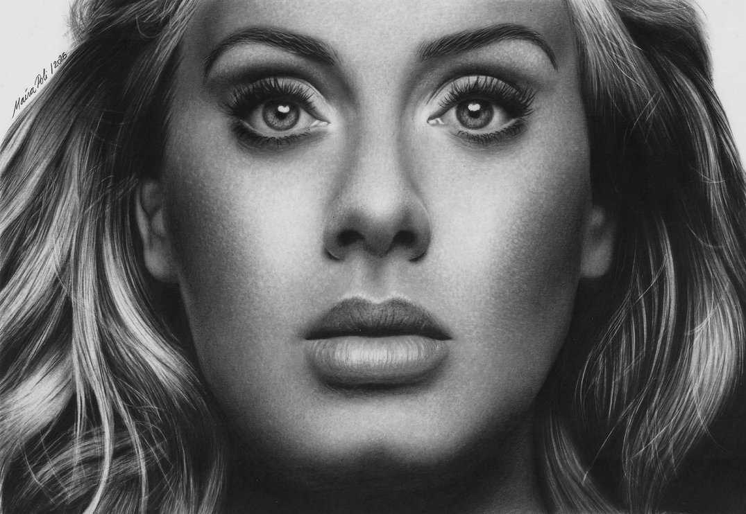 05-Adele-Maíra-Poli-Mahbopoli-Black-and-White-Realistic-Pencil-Celebrity-Portraits-Drawings-www-designstack-co