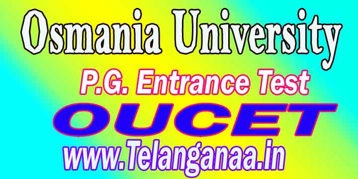 Osmania University P.G. Entrance Test OUCET 2016 Rank Card