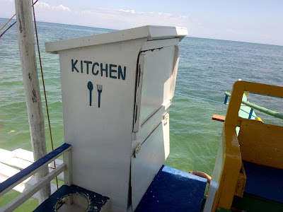 bizarre kitchen on the boat