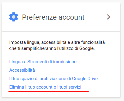 Come cancellarsi da google