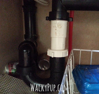Amazing Mod for a Low Sink - End Backaches - Genius! Wacky Pup DIY Tutorials for Small Spaces
