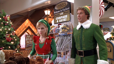 Will Ferrell and Zooey Deschanel in Elf