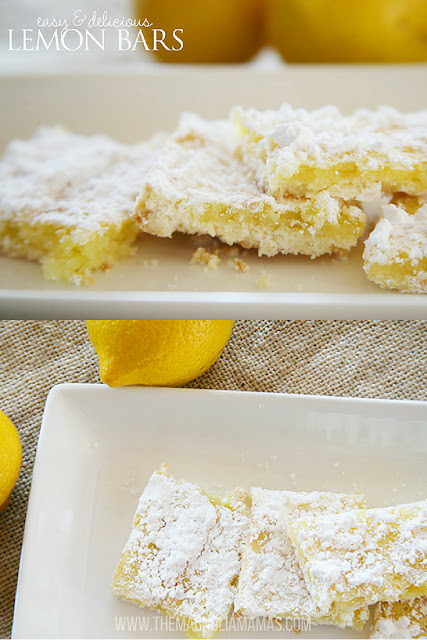 Easy and delicious lemon bars. Great quick and easy recipes for a yummy lemon dessert treat!