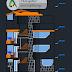 مخطط مسكن عائلي 3 طوابق اوتوكاد dwg
