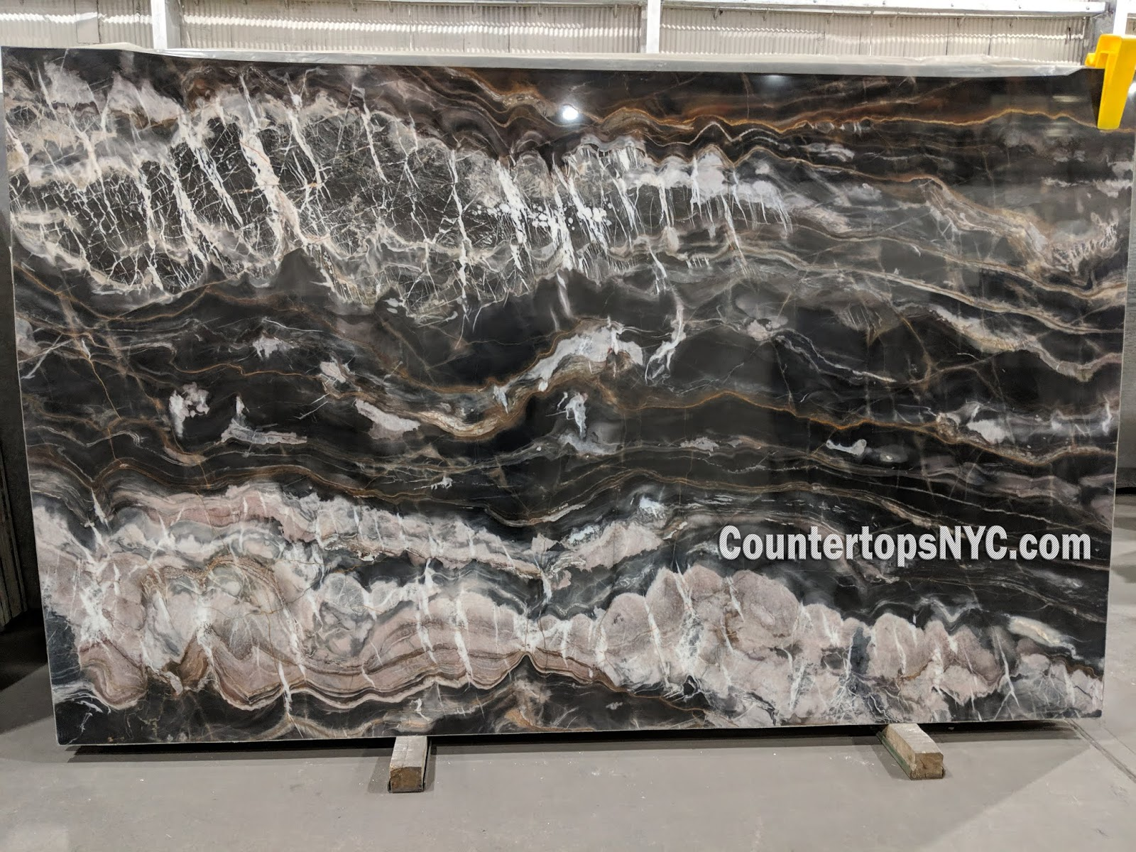 Confusion Dark Marble Slab NYC