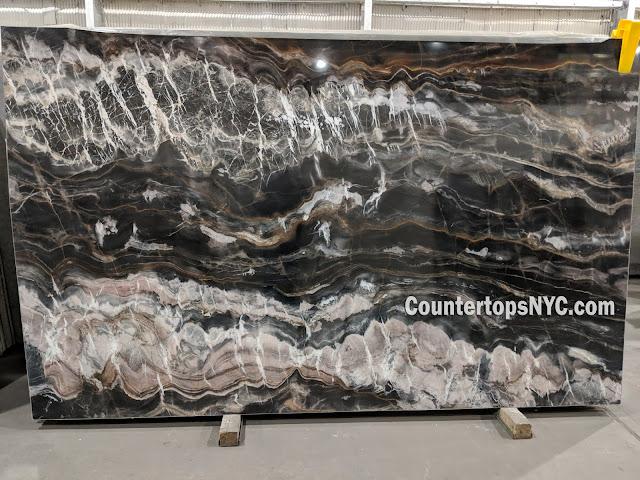 Confusion Dark Marble Slab