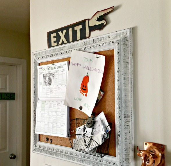 Bulletin board and Exit sign