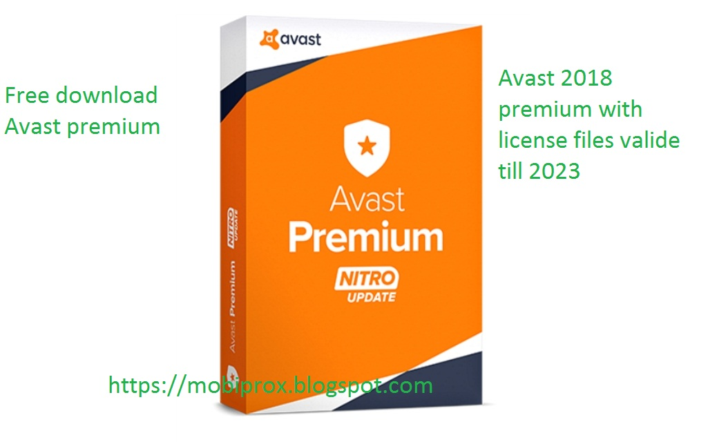 AVAST PREMIUM 2018 FREE DOWNLOAD WITH LICENSE TILL 2023 ...