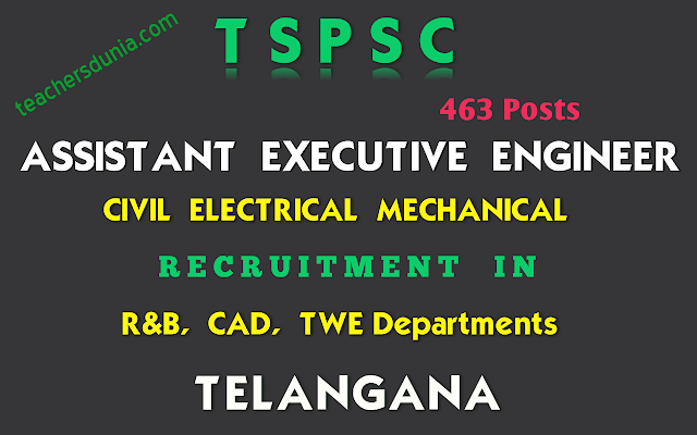 TSPSC-Assistant-Executive-Engineer-Civil-Electrical-Mechanical-Recruitment-Notification