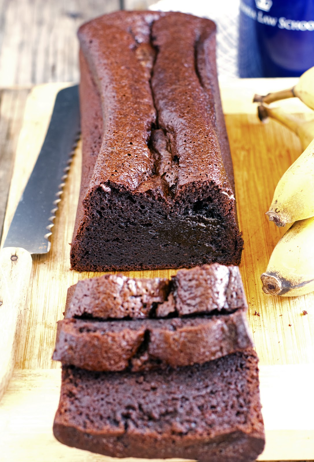(Gluten-Free) Blender Chocolate Banana Bread