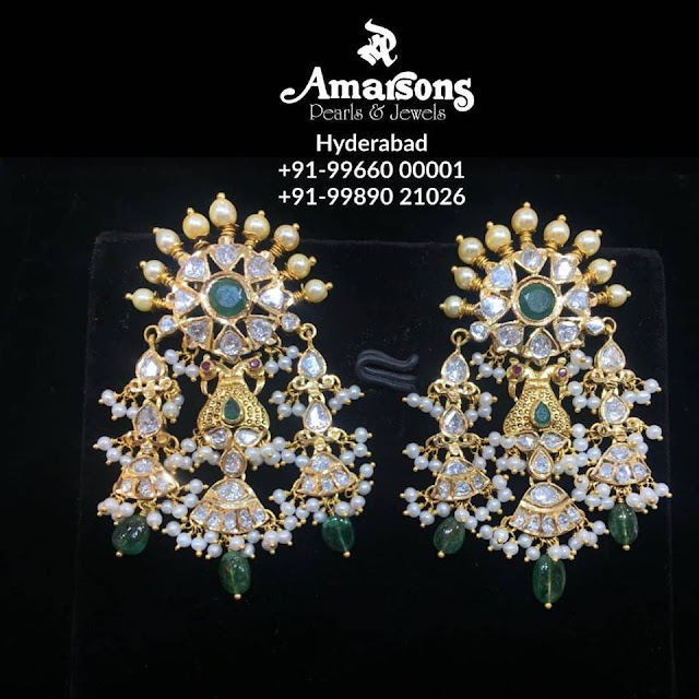Long Earrings by Amarsons Jewellers