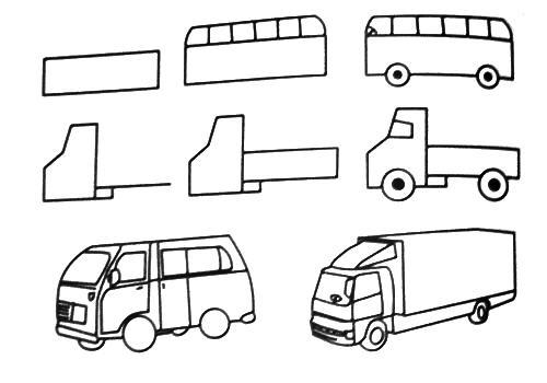 desenhos faceis de fazer no papel caminhão