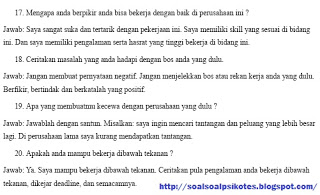 Contoh Soal Dan Jawaban Psikotes Indonesia Eximbank Tahun 2018 Lengkap Tes Wawancara Kerja