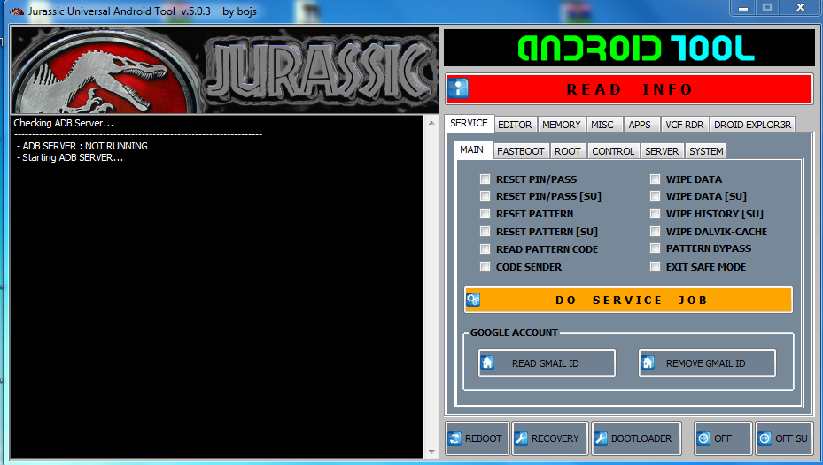jurassic uniandroid pour windows