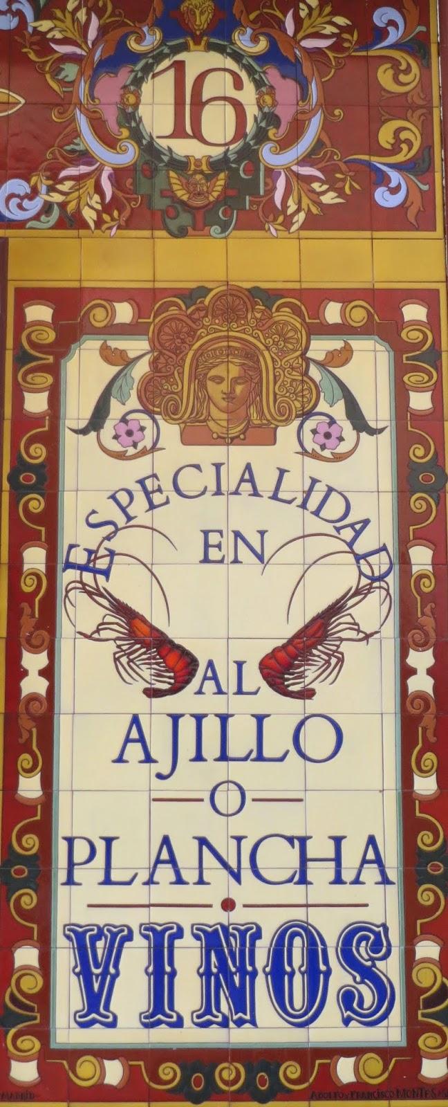 Azulejos Adolfo Montes Alvaredo. Nuñez de Arce. Taberna