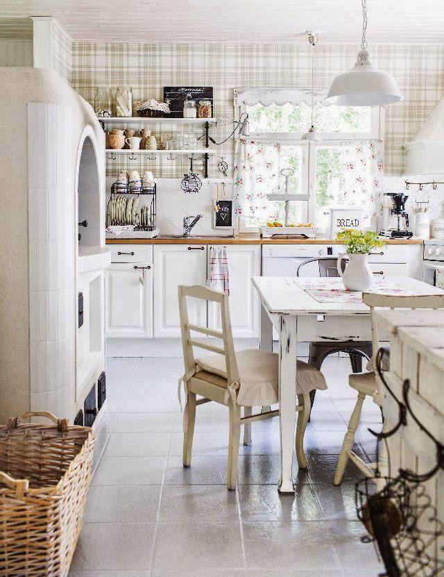 Vickys Home Una Cocina De Estilo Shabby Vintage Shabby Chic Kitchen - Cocina-shabby-chic
