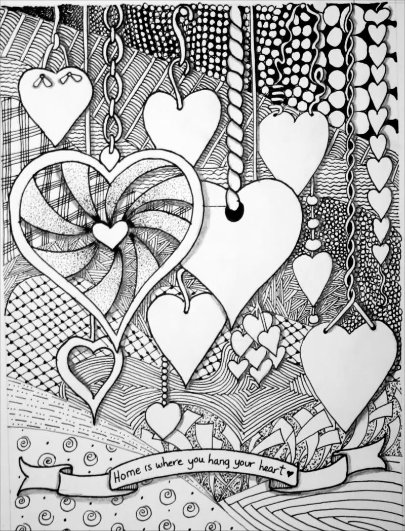 99 best Zentangle images on Pinterest |Zentangle Heart Graphics