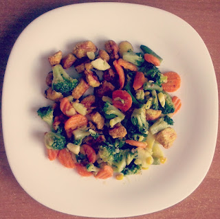 Obiad na szybko - kurczak z warzywami