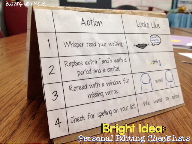 Struggling writers often have trouble figuring out how to edit their writing independently. They often don't notice spelling, capitalization, punctuation, and grammar mistakes, or even know they should be looking for them! Personal Editing Checklists help students edit their writing on their own before they confer with you!