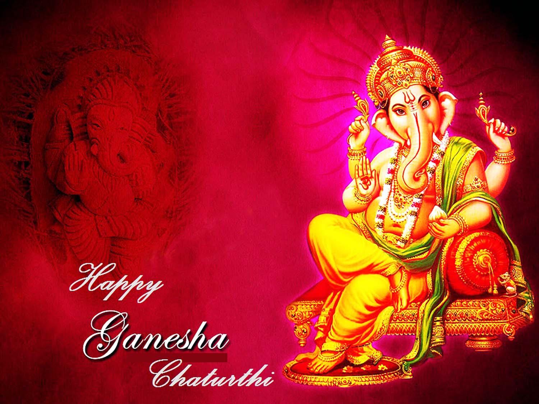 Ganesh chaturthi image in Pink!