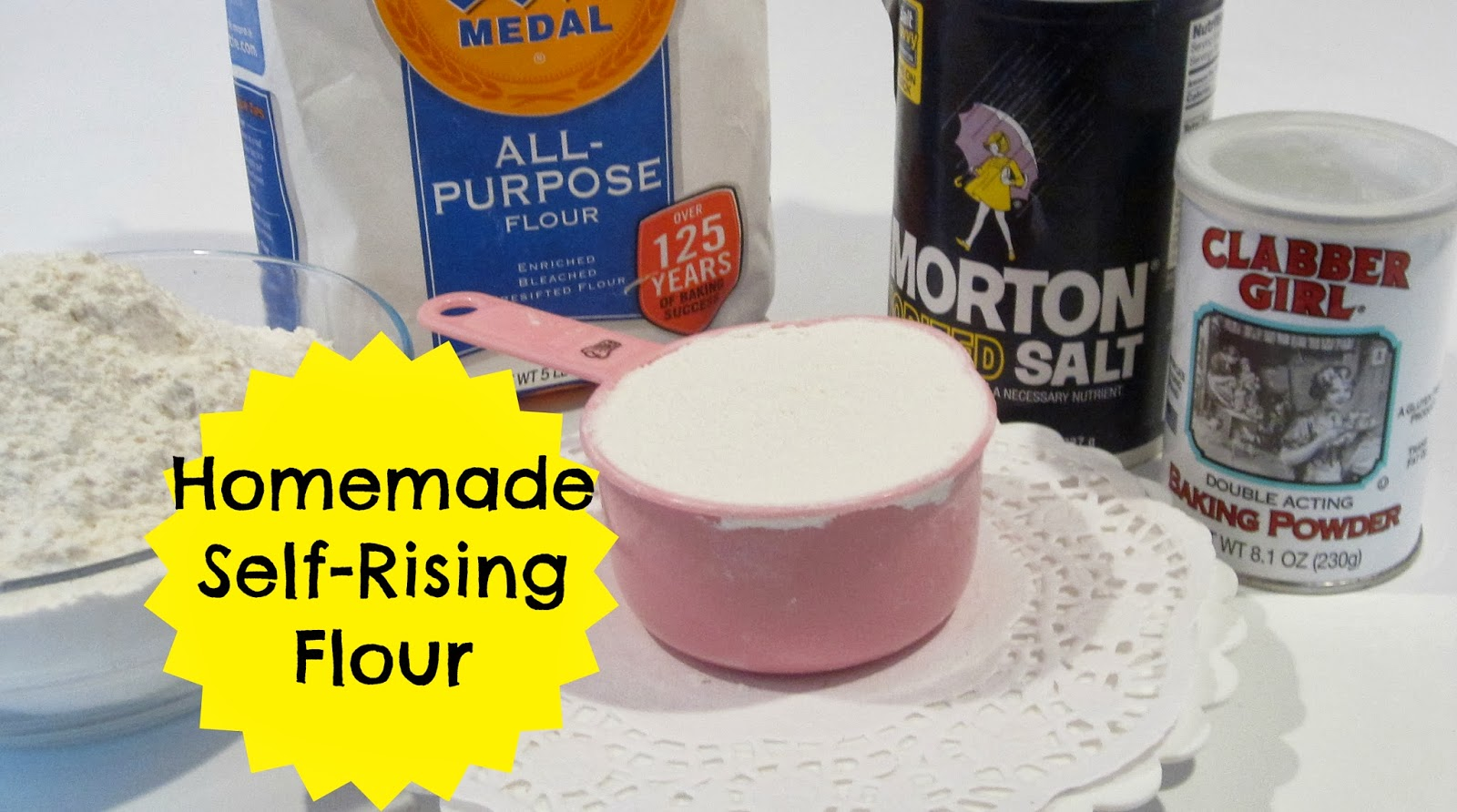 {VIDEO} How To Make Homemade Self-Rising Flour Substitute ...