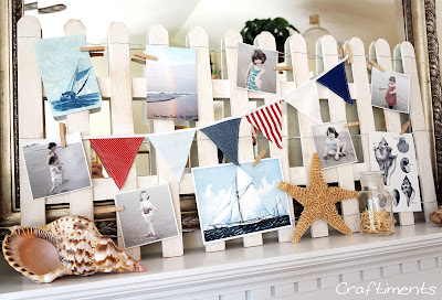 beach fence photo display