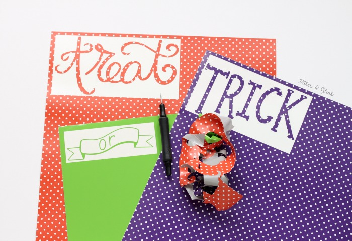 vinyl trick or treat decal