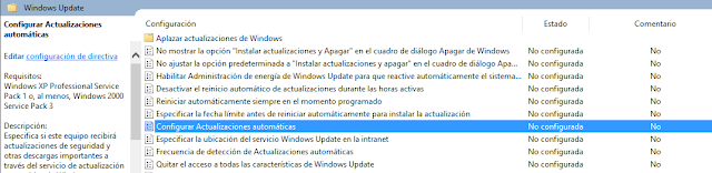 Configurar Actualizaciones automáticas