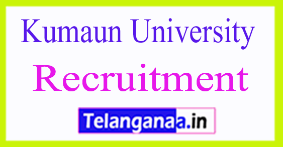 Kumaun University Nainital Recruitment Notification 2017
