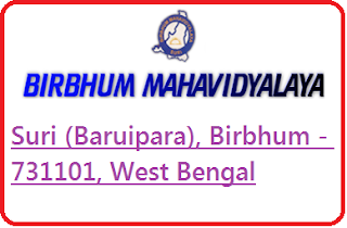 Birbhum Mahavidyalaya, Suri (Baruipara), Birbhum - 731101, West Bengal