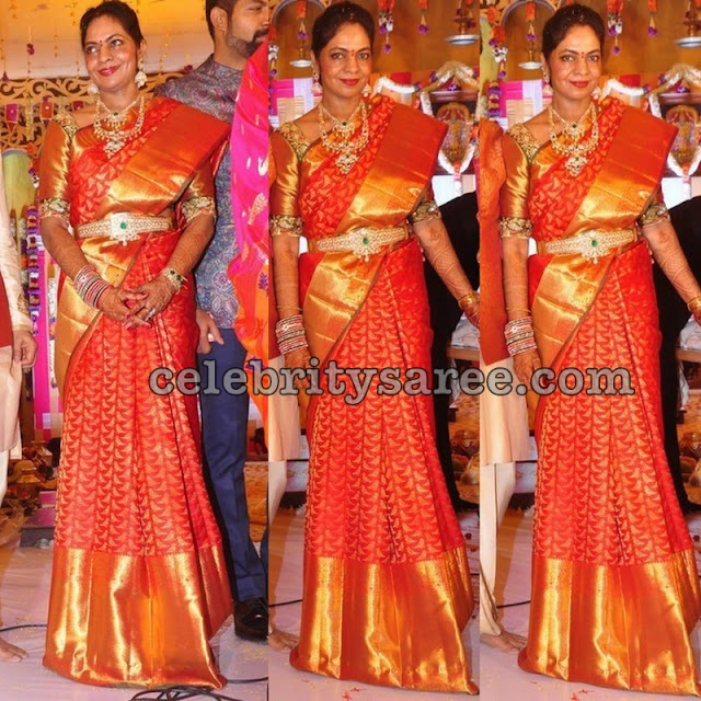 Red Big Border Kanchi Pattu Saree
