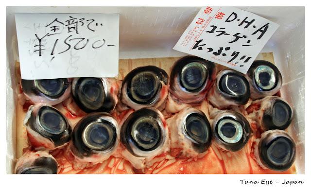 Top 10 Weirdest Food in Asia - Tuna Eye - Japan | Ramble and Wander