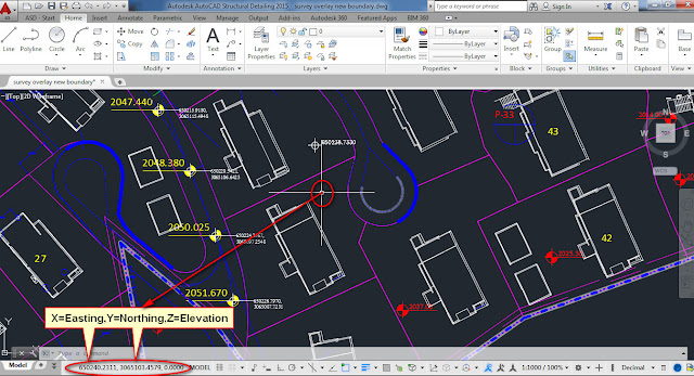 How to find out Coordinates using AutoCAD