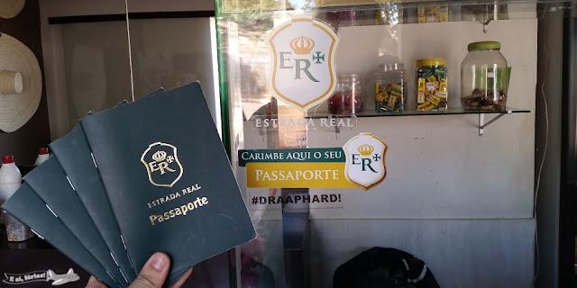 Carimbo, passaporte, Morro do Pilar, Caminho dos Diamantes, Estrada Real