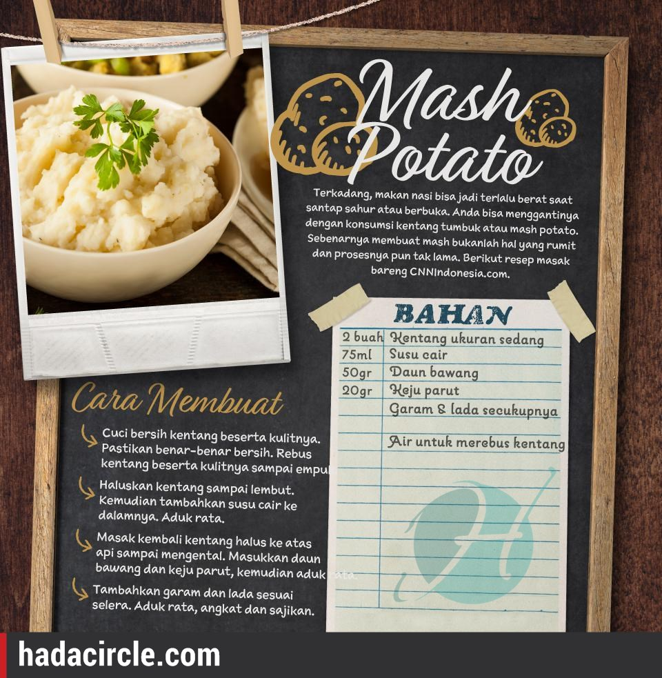 Resep Mash Potato
