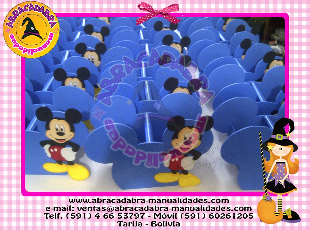 Abracadabra Fiesta Canastas Dulceros Mickey Y Minnie Mouse