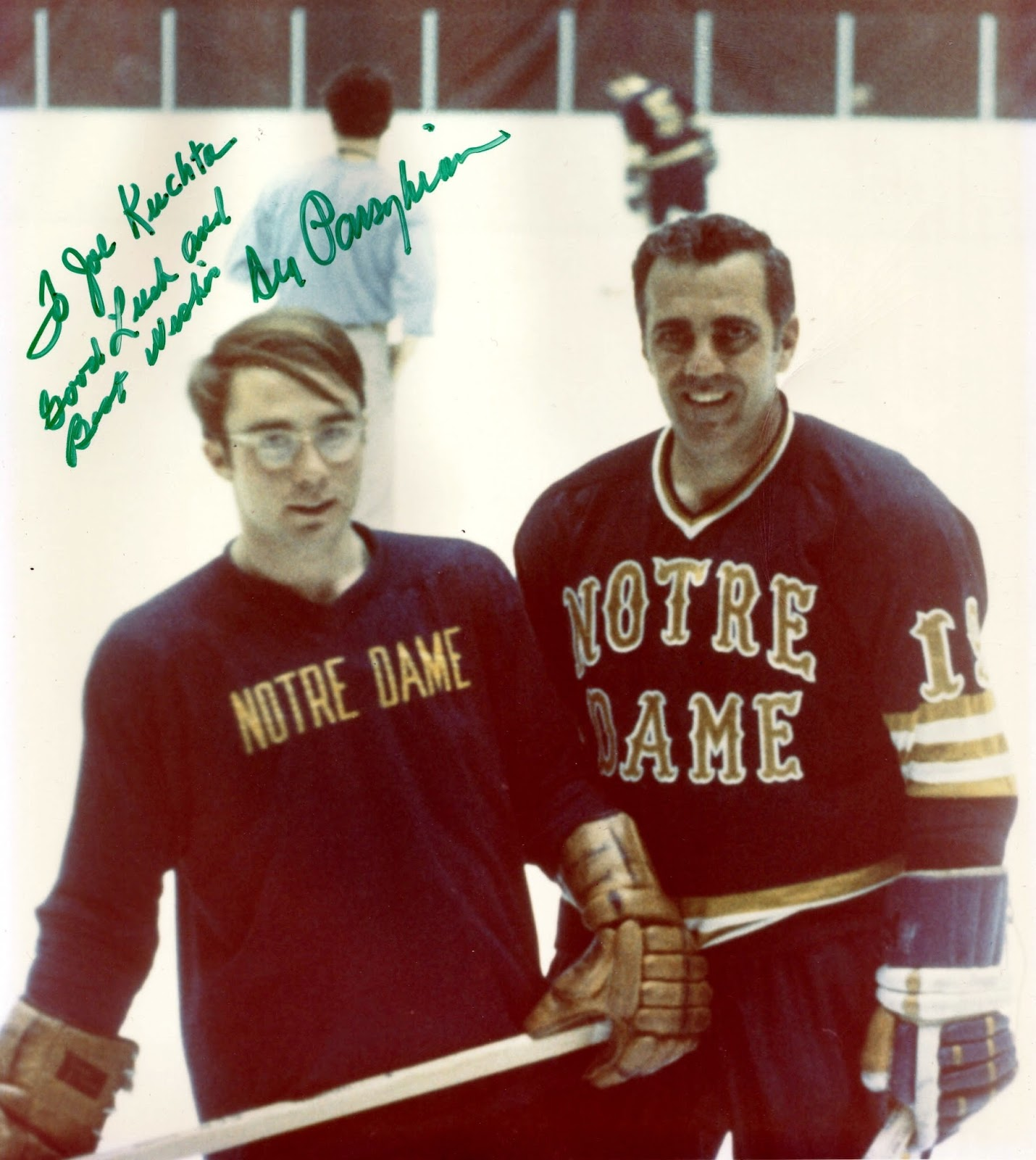 """86c735969fa ND hockey coach Charles """"Lefty"""" Smith and Ara organized a hockey game in  the late spring of 1970 between the faculty of Notre Dame and the  University of ..."""