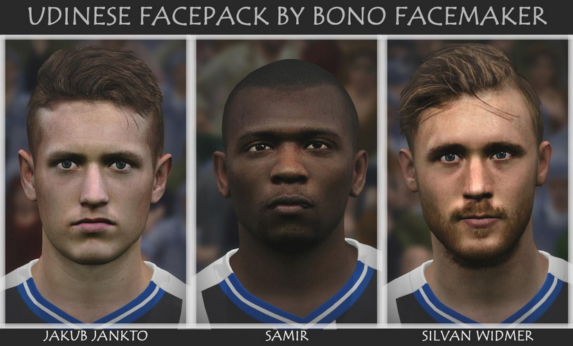 PES 2017 Udinese Facepack by Bono Facemaker