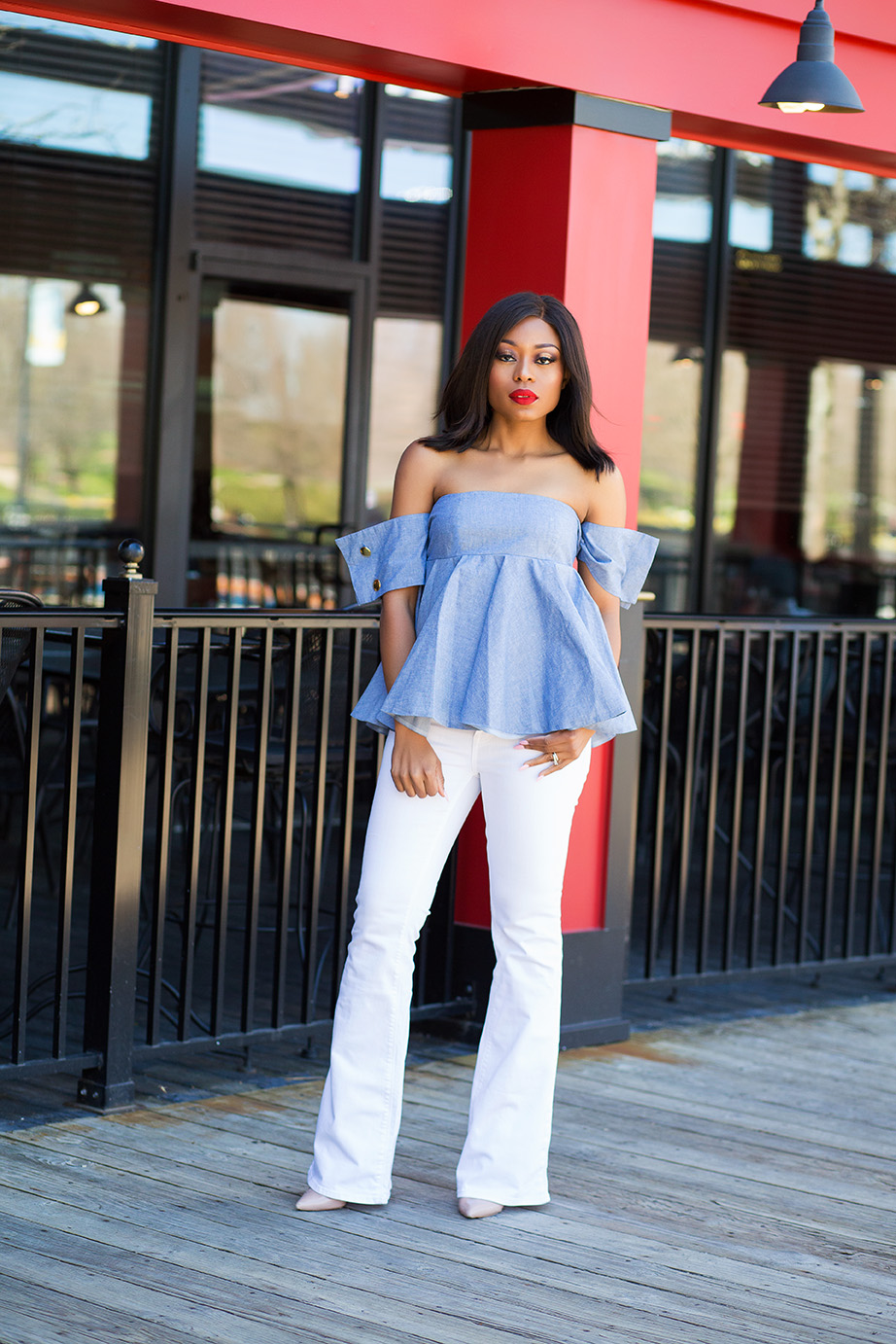 Fourth of July style inspiration, off shoulder top, www.jadore-fashion.com