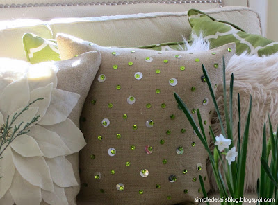 Simple Details Diy Sequin Pillow Simple Bling