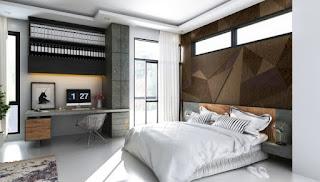 Cuarto con paneles madera
